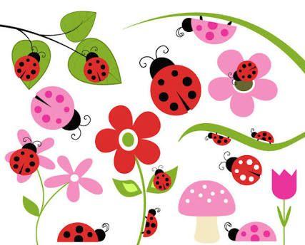 Free printable stencils google. Ladybug clipart garden