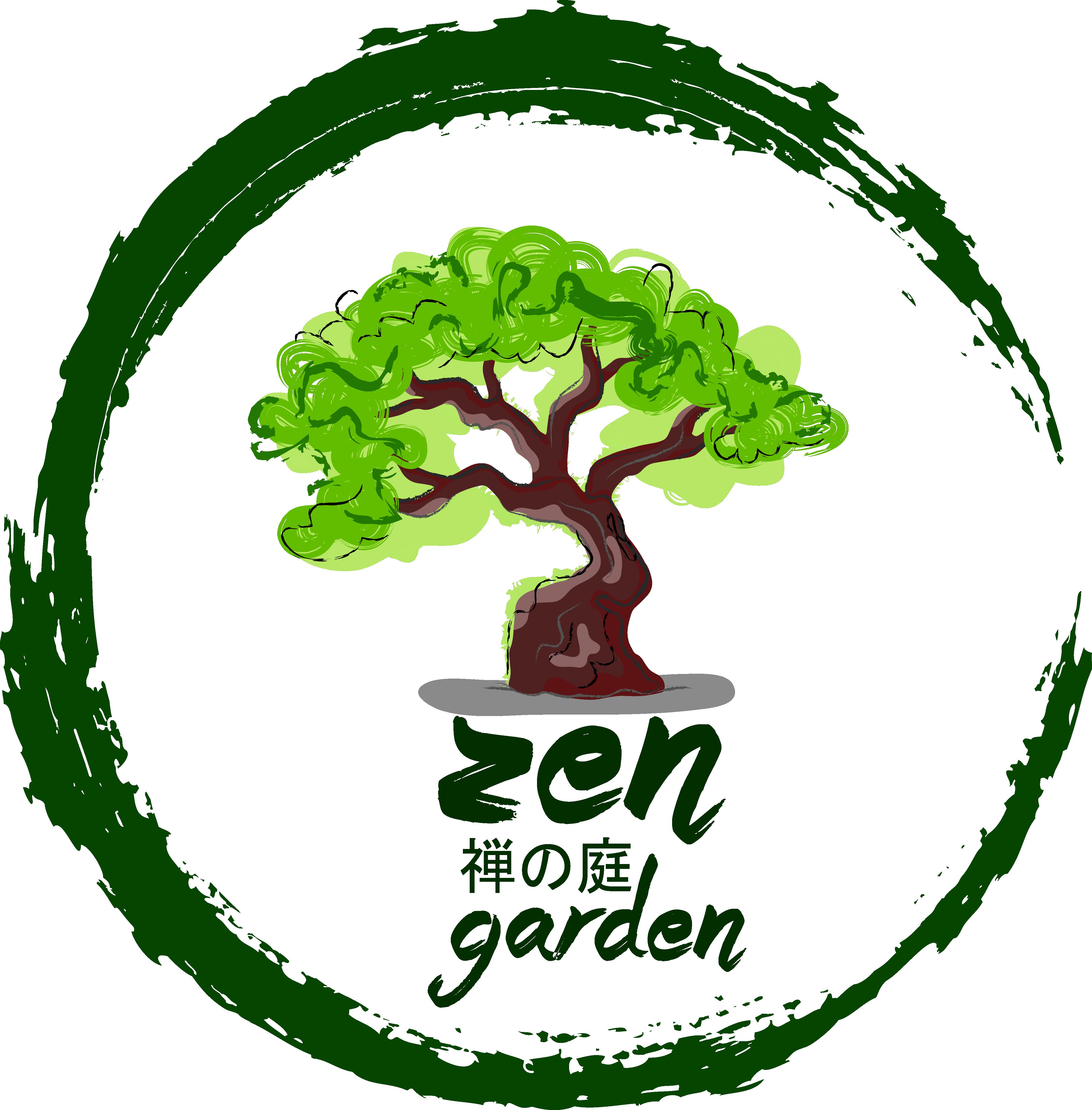 collection of zen. Garden clipart logo