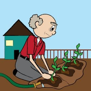 Image illustration of an. Gardening clipart planting