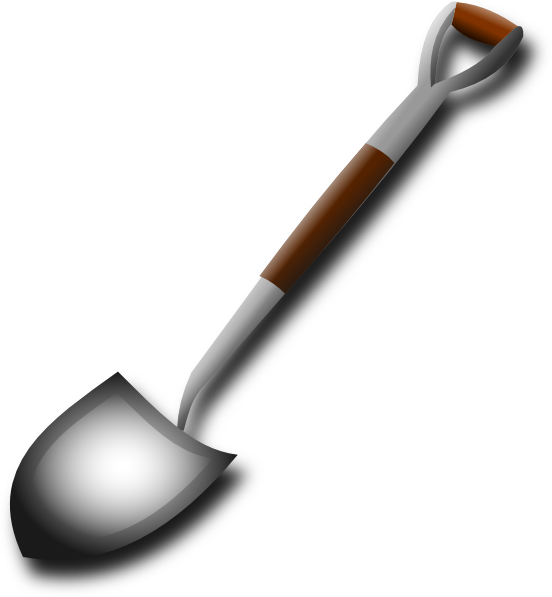 Shovel clip art at. Hut clipart hovel
