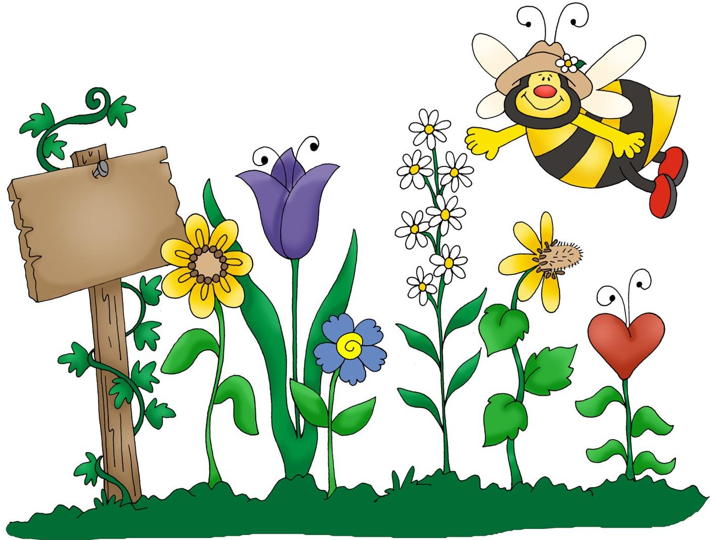 Gardener clipart preschool. Spring garden free image