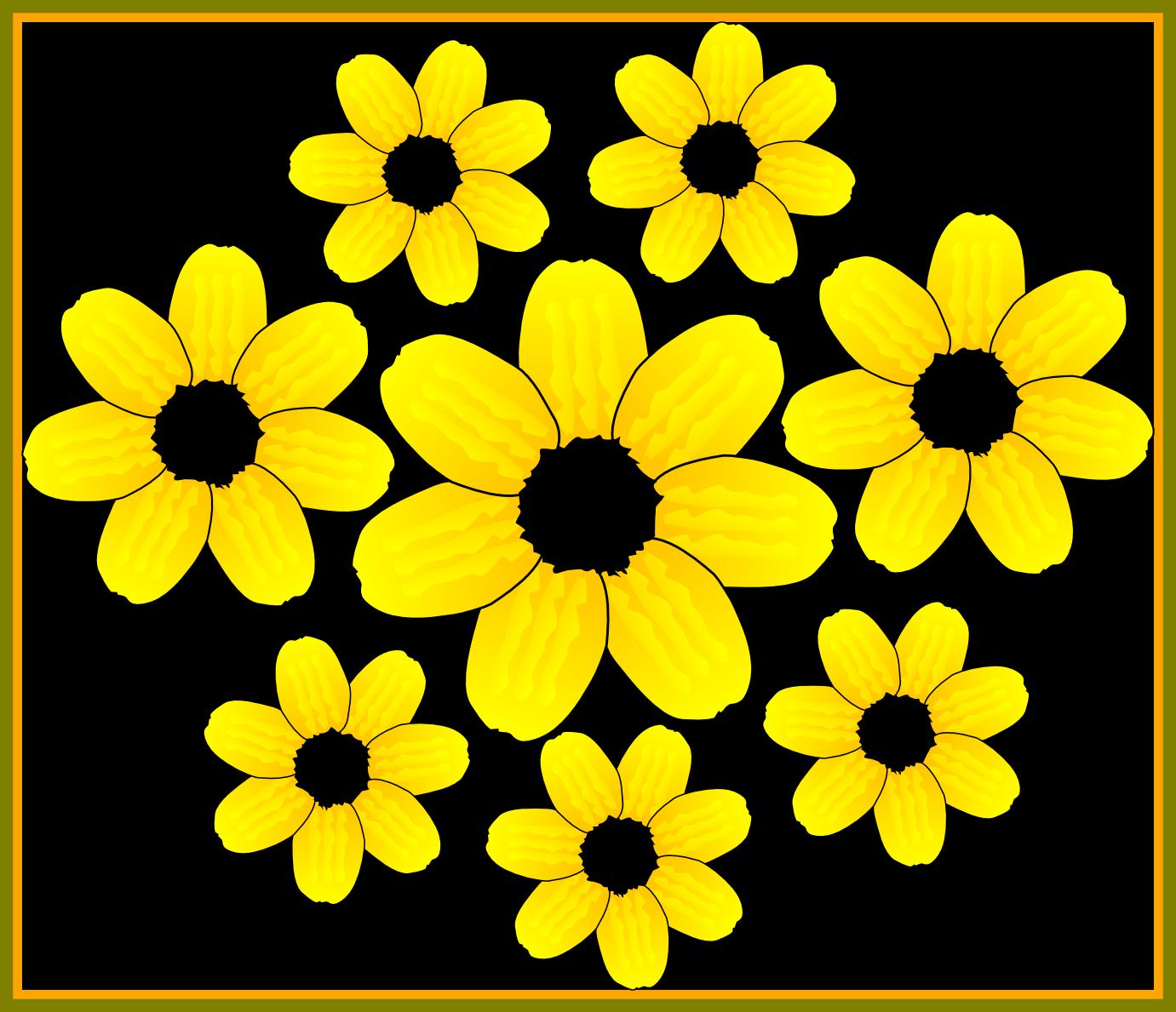 Garden clipart sunflower. Unbelievable flower accents graphics