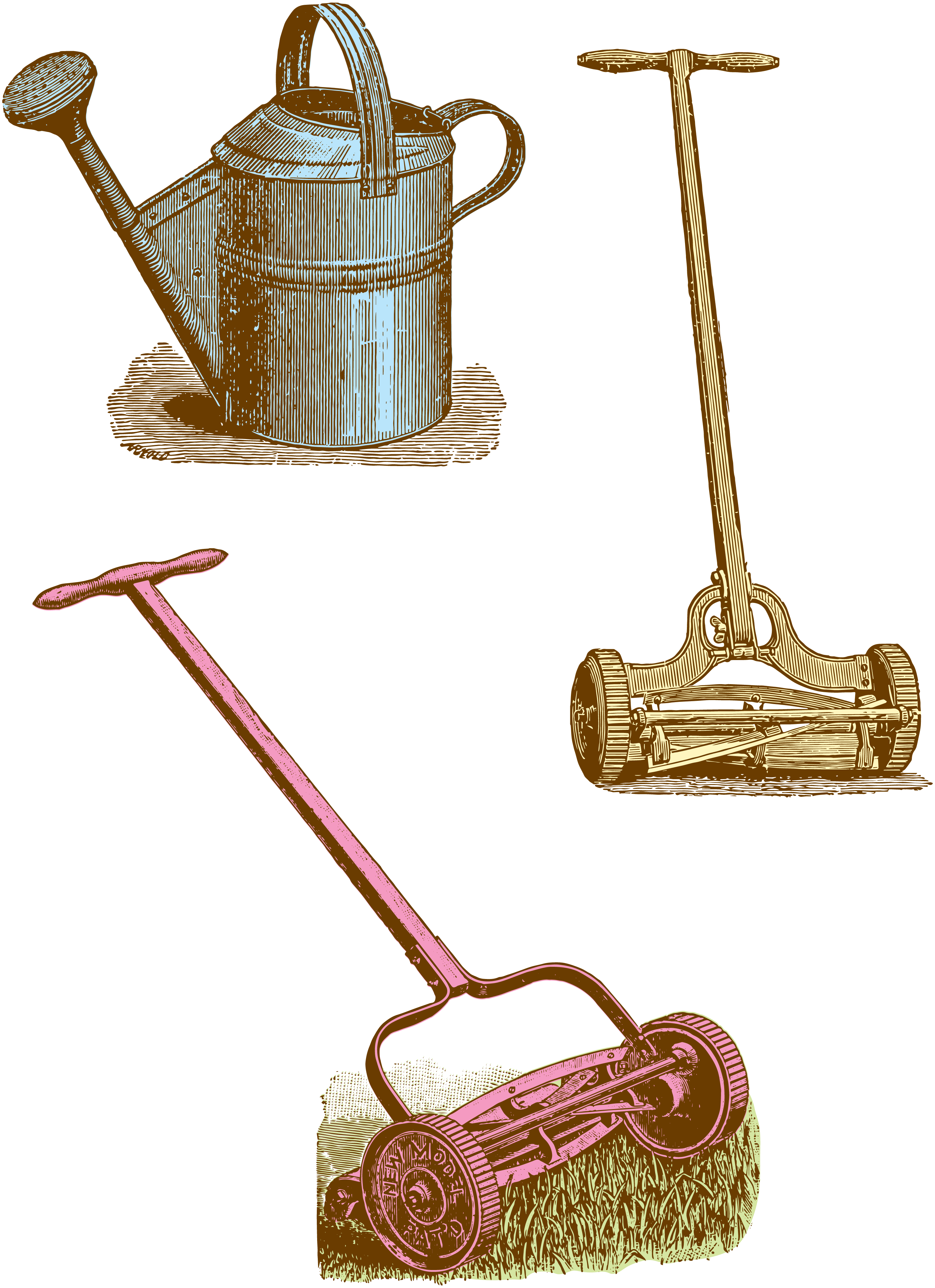 Vintage yard tools oh. Gardener clipart garden spade