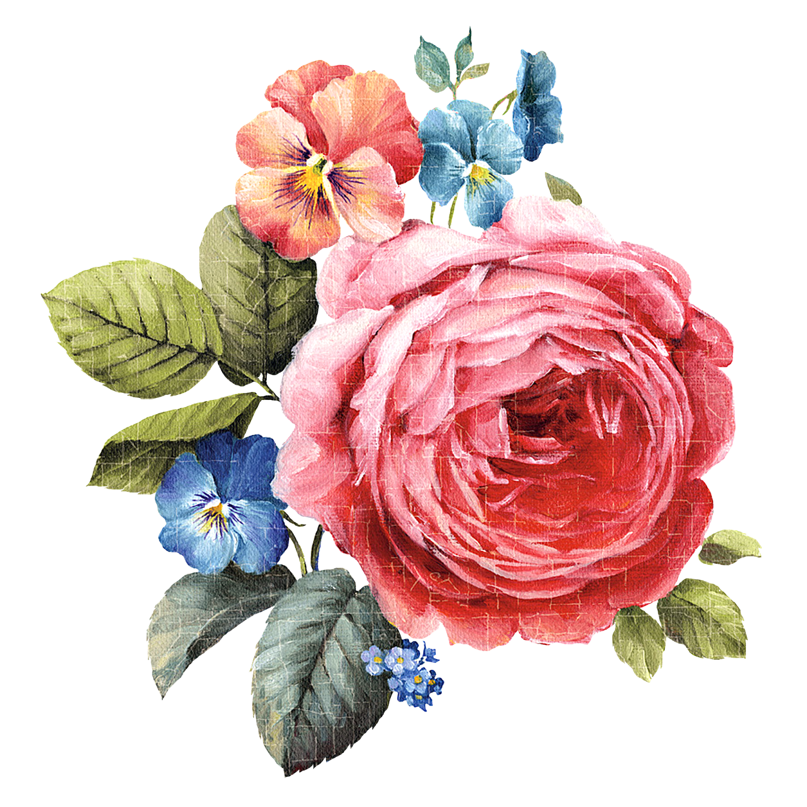 Decoupage painting pattern flowers. Png flower