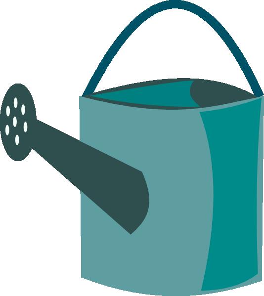 Gardener clipart watering can. Green clip art at