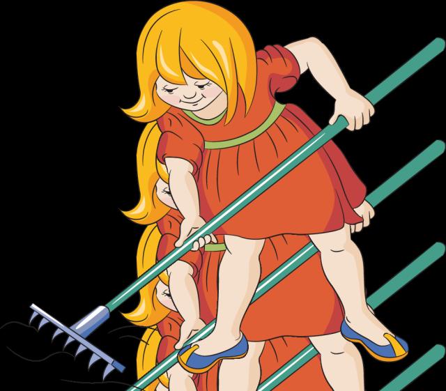Gardening garden fencing gardens. Gardener clipart little girl