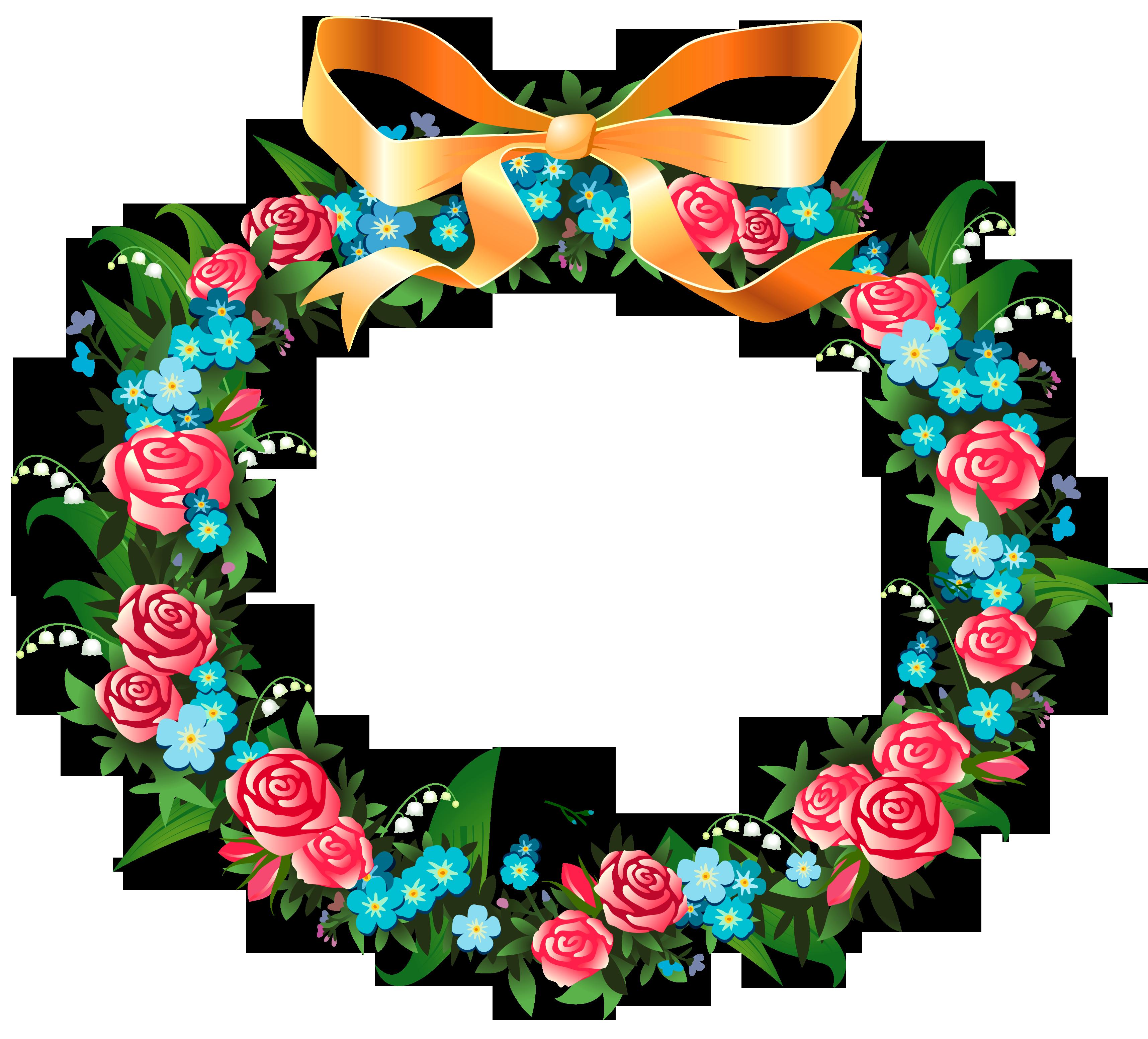 d f b. Garden clipart wreath