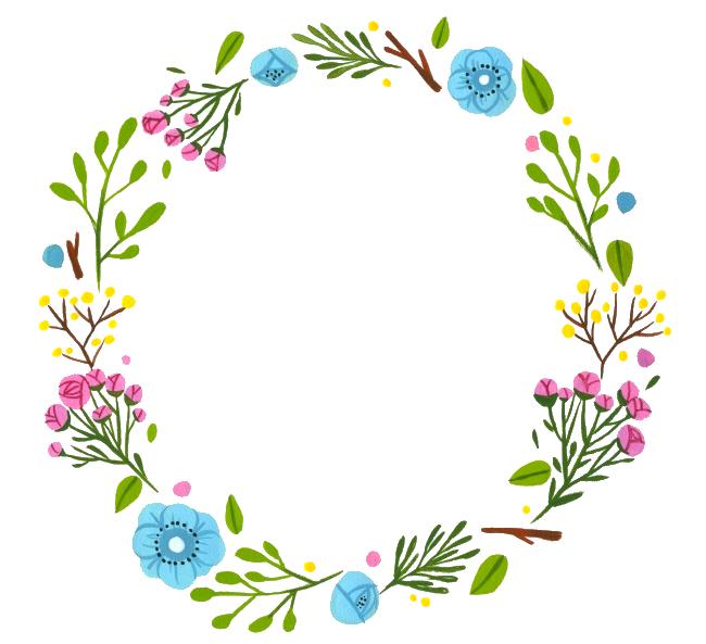 Garden clipart wreath. Facebook scraps pinterest wreaths