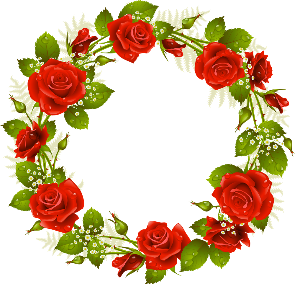 Pin by nurcanc ceo. Garland clipart rose