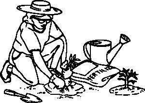 Gardening clip art at. Gardener clipart