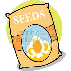 Of seeds royalty free. Gardening clipart bag seed