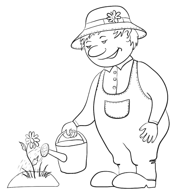 garden clipartlook. Gardening clipart black and white