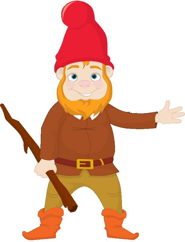 Gardener clipart cartoon. Inspiring garden gnome art