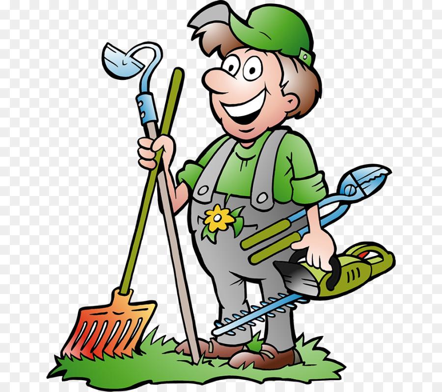Gardener clipart cartoon. Green tree garden illustration