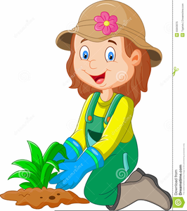 Gardener clipart cartoon. Animated gardening free images