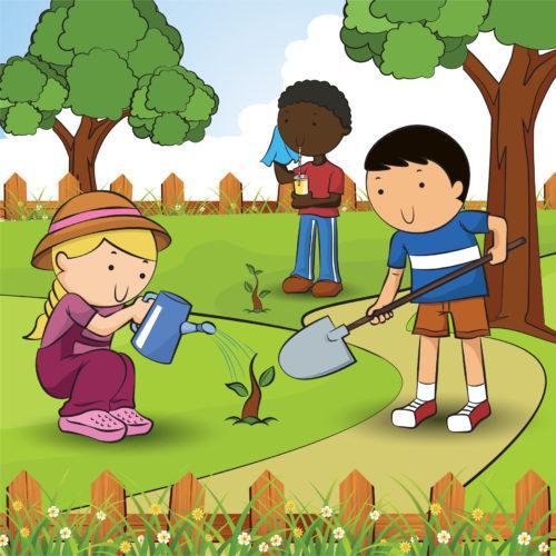 Capital gardens launches kids. Gardening clipart children's