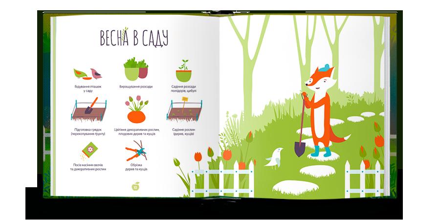 Gardening book for children. Gardener clipart childrens garden