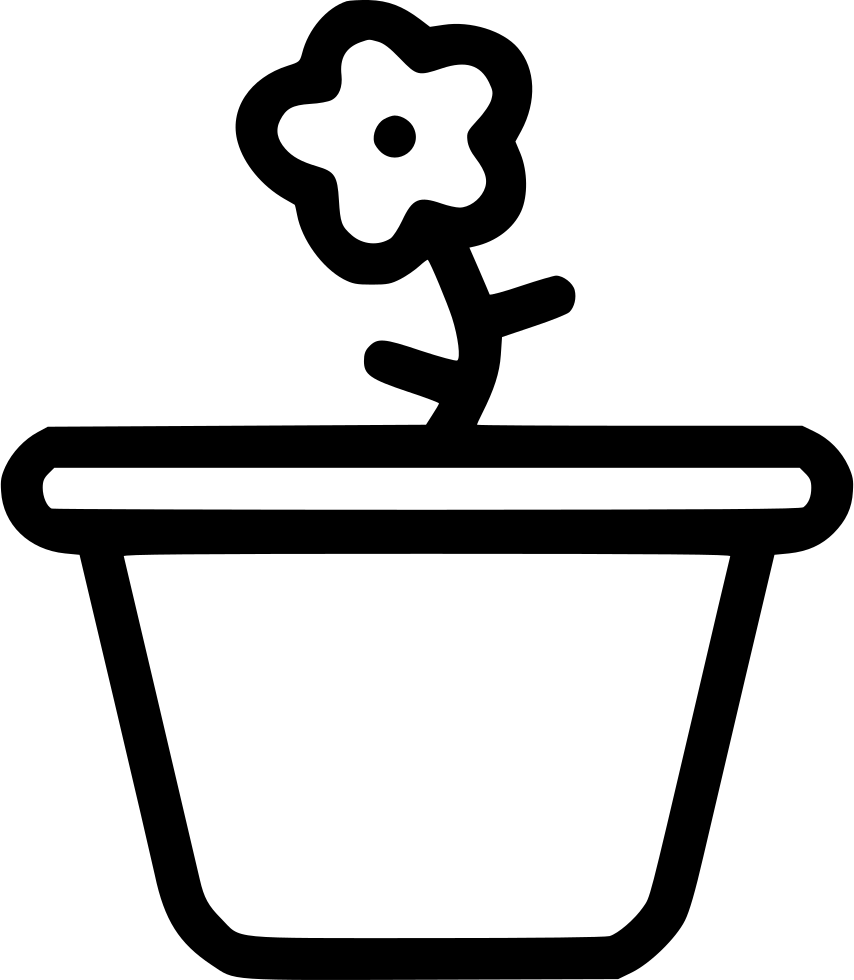 Pot flower plant garden. Gardening clipart crop production