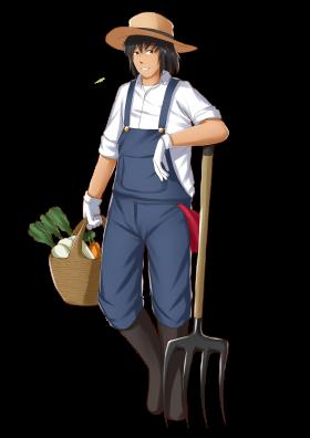Farmer agriculture clip art. Gardener clipart farm worker