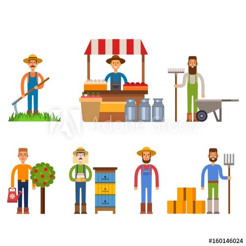 Gardener clipart farm worker. Farmer character man agriculture