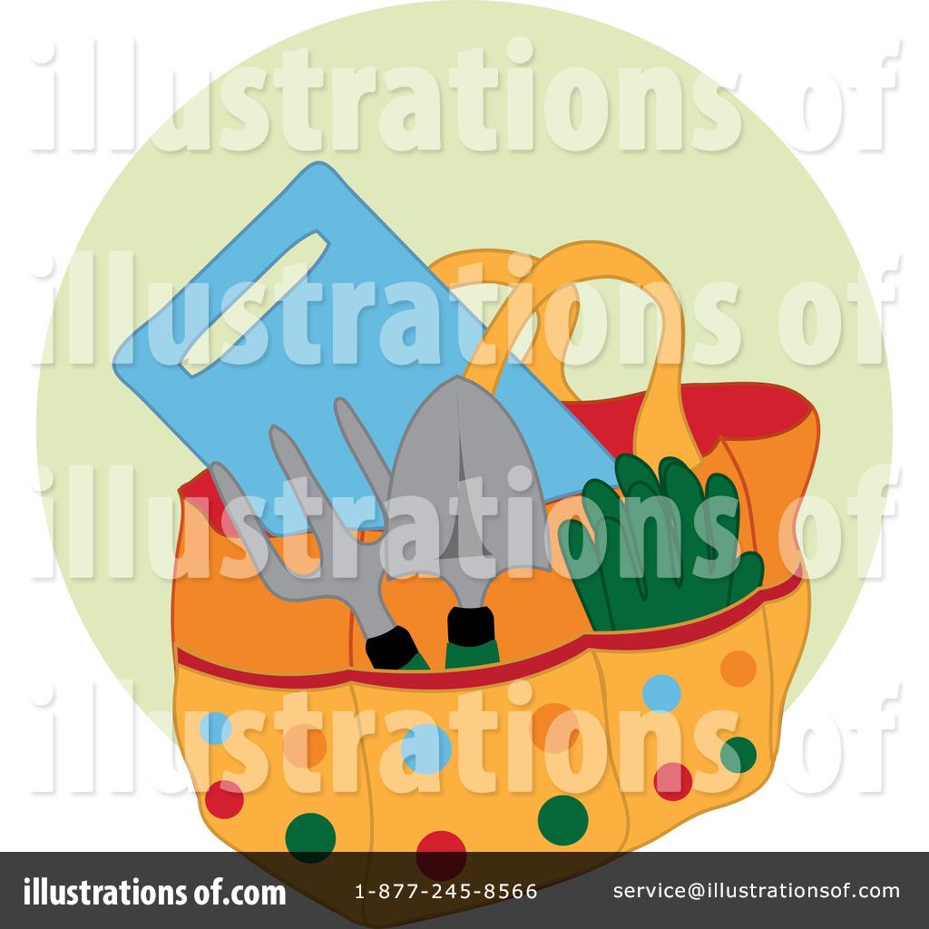 Gardening illustration by pams. Gardener clipart garden basket