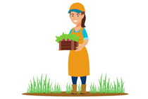 Gardener clipart garden basket. Free gardening clip art