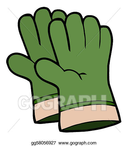 Clip art vector pair. Gardener clipart garden glove