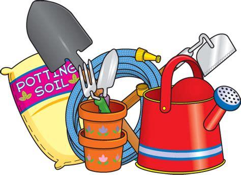 Gardening clipart gardening tool. Garden items clip art