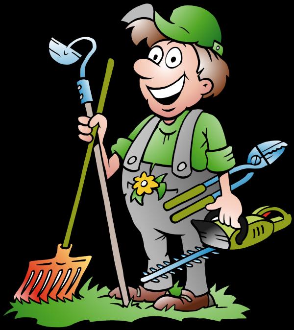 Gardener clipart garden maintenance. Frank d porter almost