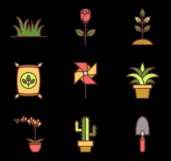 Gardening clipart gardner. Tools icons free vector