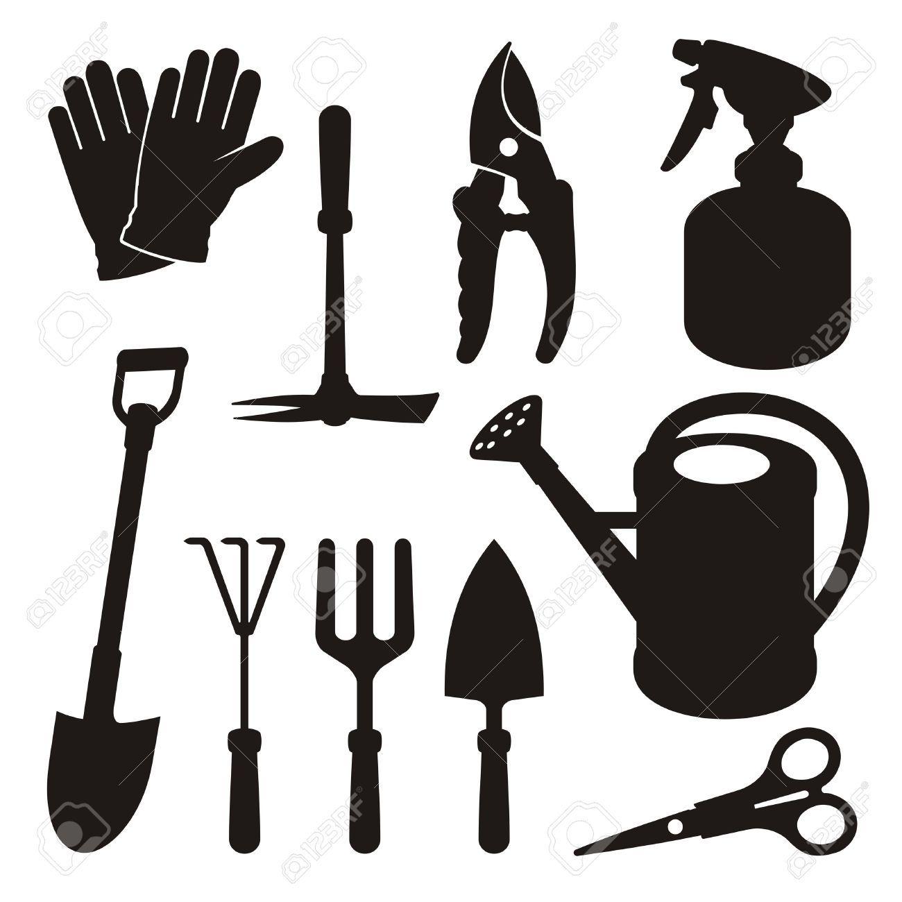 Gardening tools stock illustrations. Gardener clipart garden spade