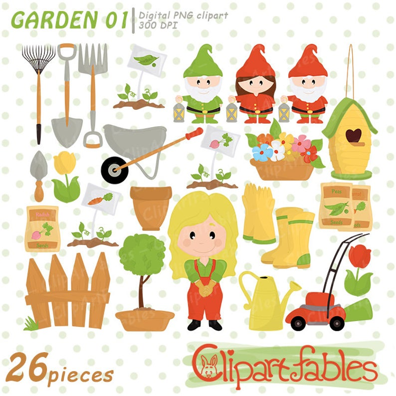 Gardening clipart useful material. Garden nice clip art