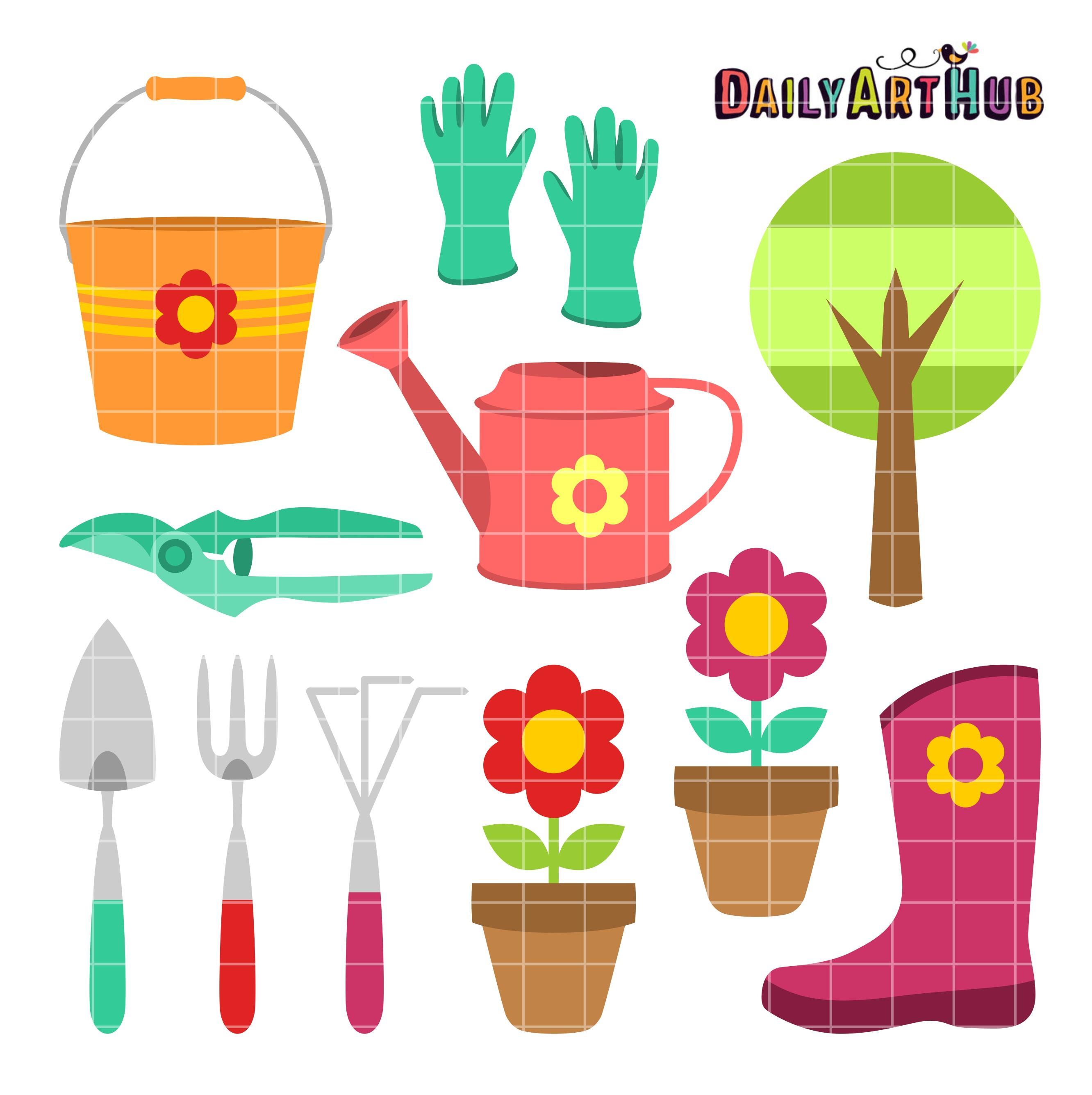 Gardening things clip art. Gardener clipart garden thing