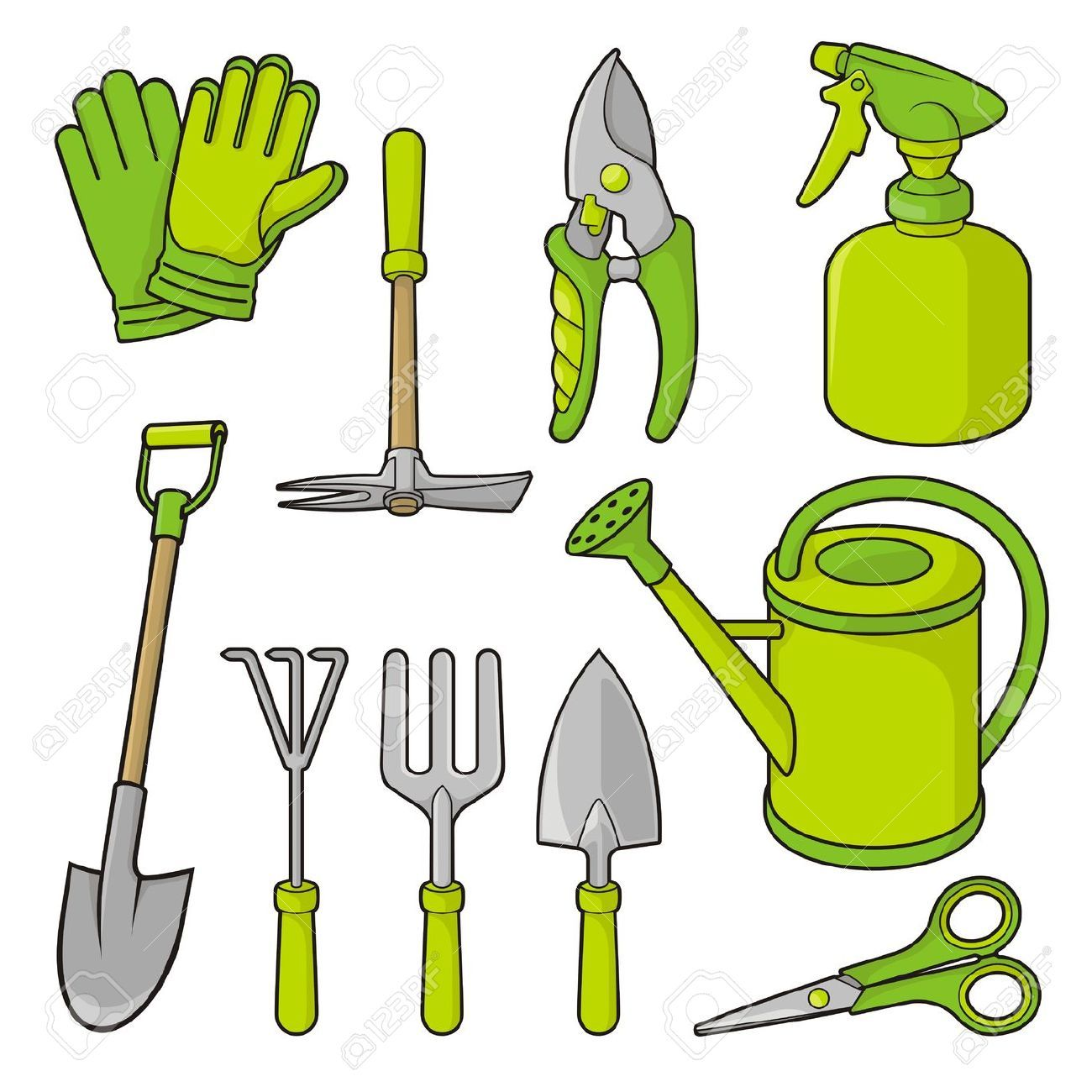 Gardener clipart gardening fork. Pin on tools