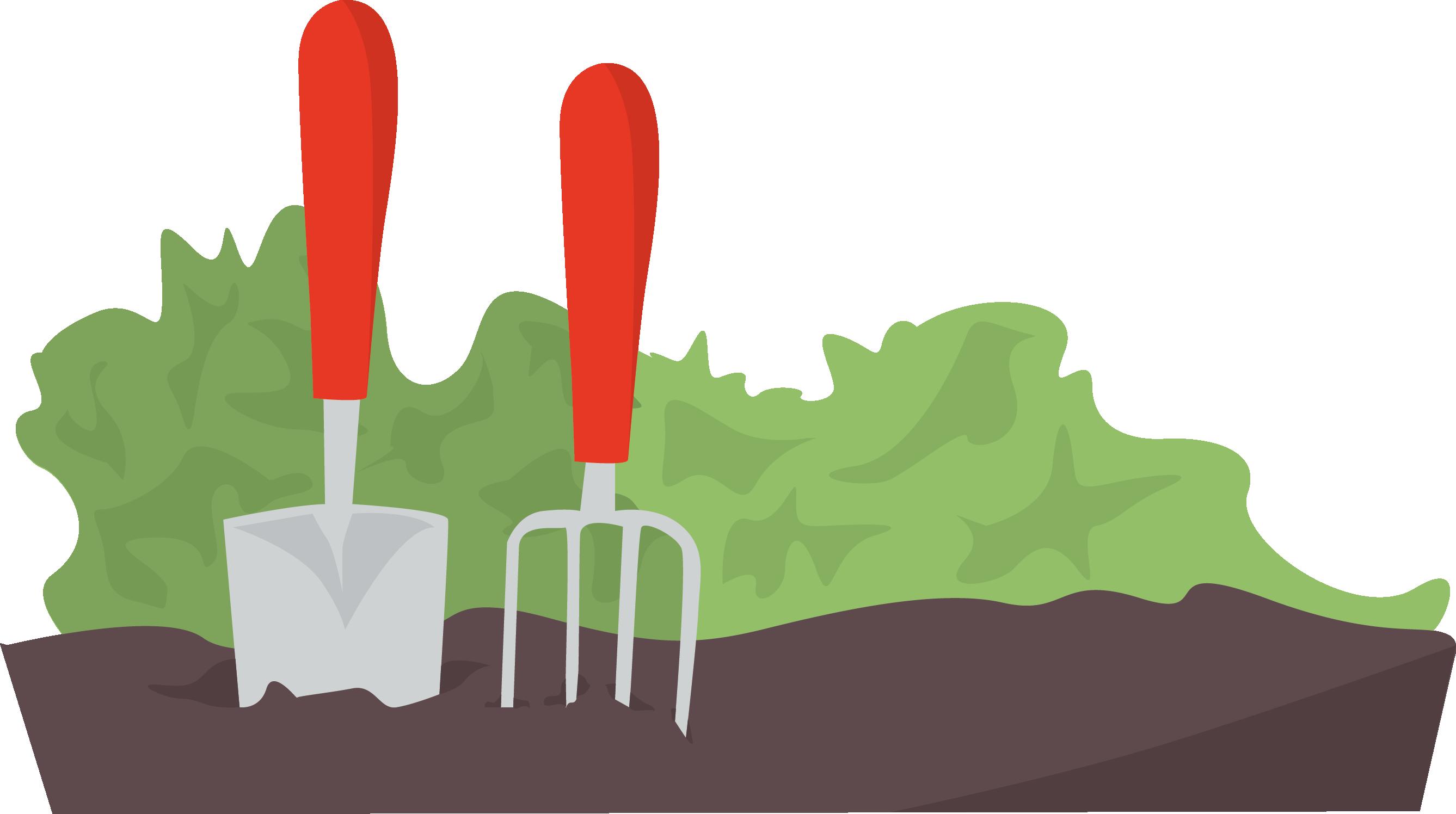 Your homyze spring garden. Gardener clipart gardening fork