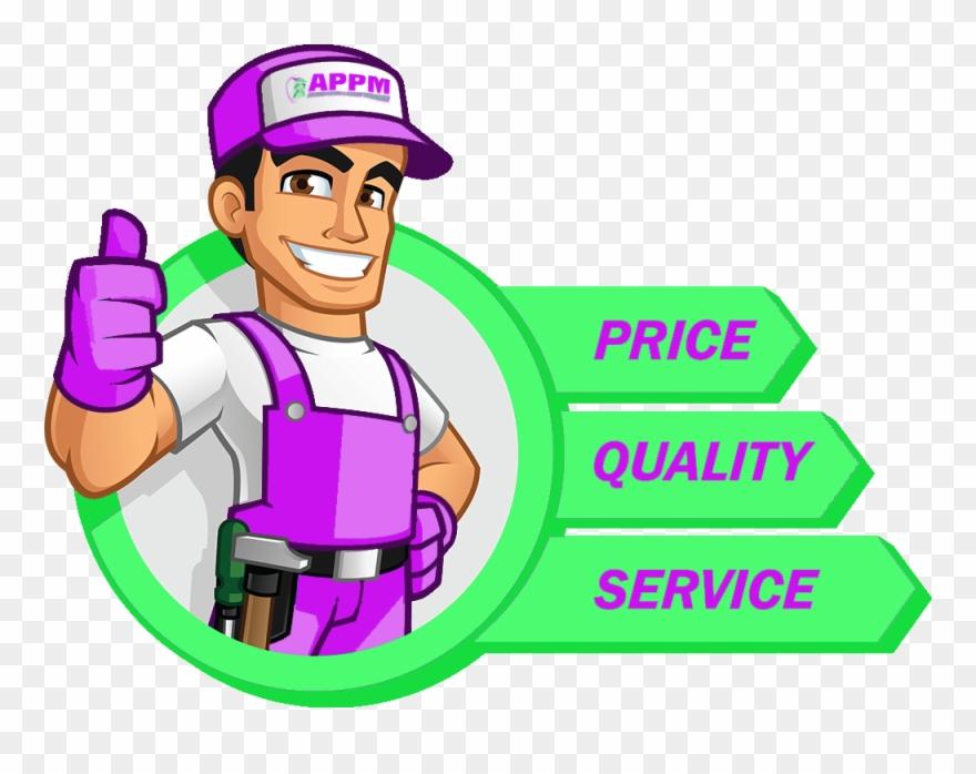 Garden property maintenance services. Gardener clipart handyman