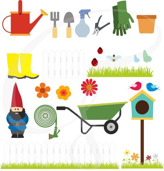 Gardening set garden clip. Gardener clipart jardin