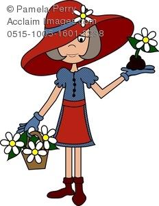 Clip art image of. Gardener clipart lady gardener