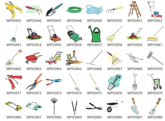 Gardening tools and equipment. Gardener clipart name