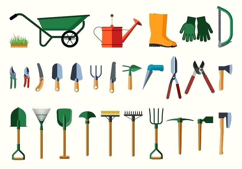 Tool clipart name. Gardening tools list tagalog