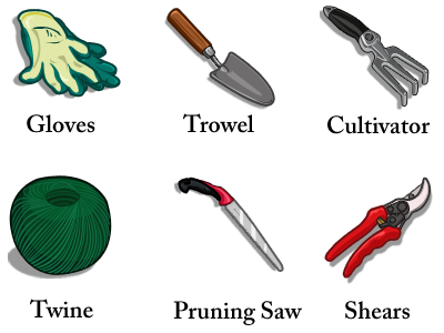 Gardener clipart name. Pictures of tools for