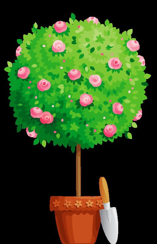 Gardening clipart indoor garden. Flower pot png tree