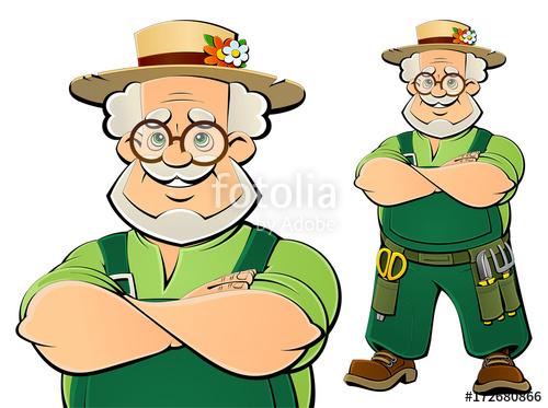 Gardener clipart old gardener. An a farmer cartoon