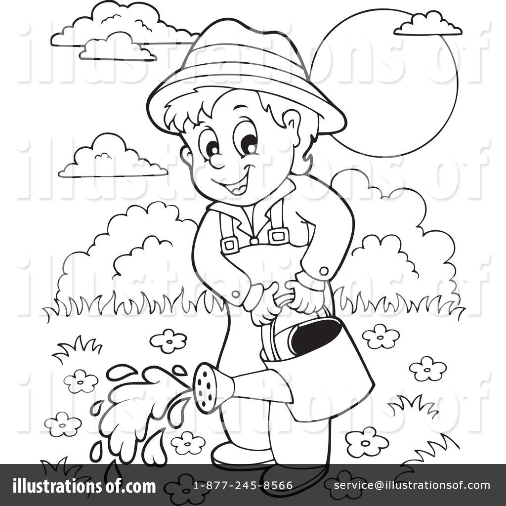 Gardener clipart outline. Black and white station