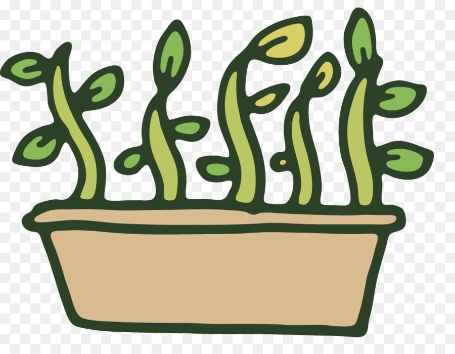 Green grass background illustration. Gardening clipart plant propagation