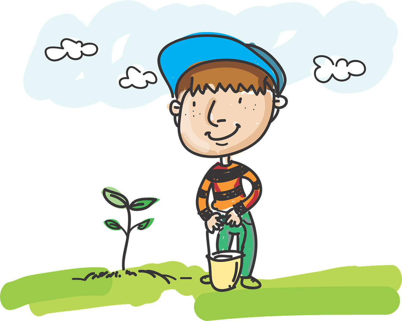 Gardener clipart proper care plant. How to gardening with