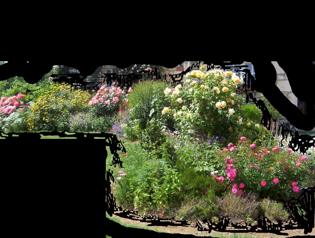 Flower bed png. Flowered garden by montvalentstock