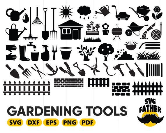 Gardener clipart svg. Gardening tools garden