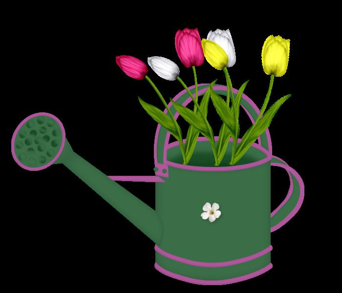 Gardener clipart watering can. Forgetmenot garden cans tulips