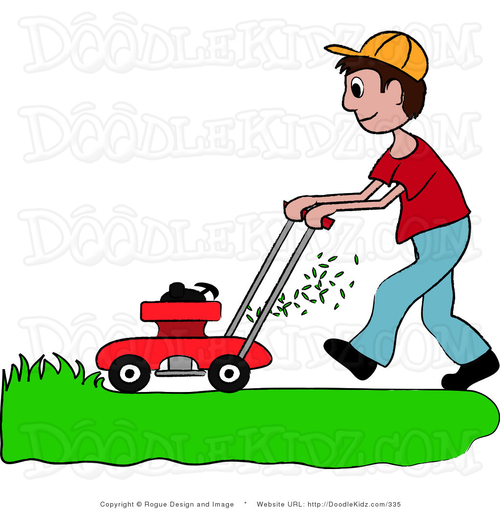 Mowing clipart lawn care. Yard work suggest clip